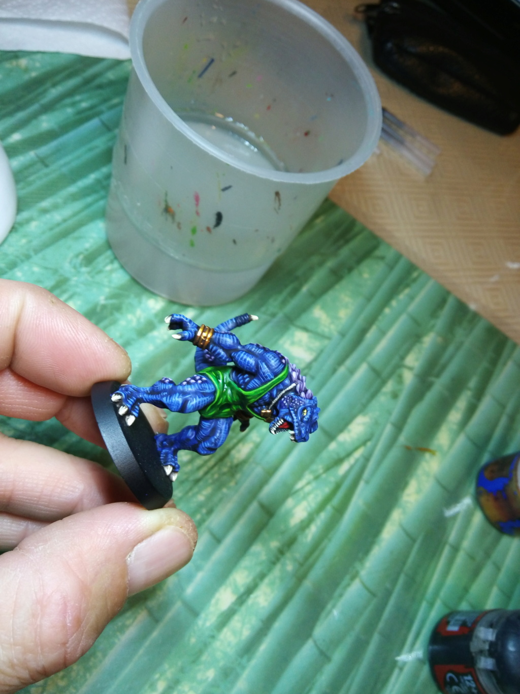 the Snakes of Zadamundra / LizardMen BloodBowl Team Project Img_2080