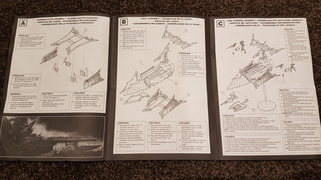 Assembly instructions for Raiders third edition. 20180710
