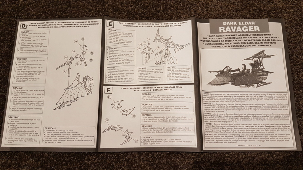Assembly instructions for Raiders third edition. 20180711