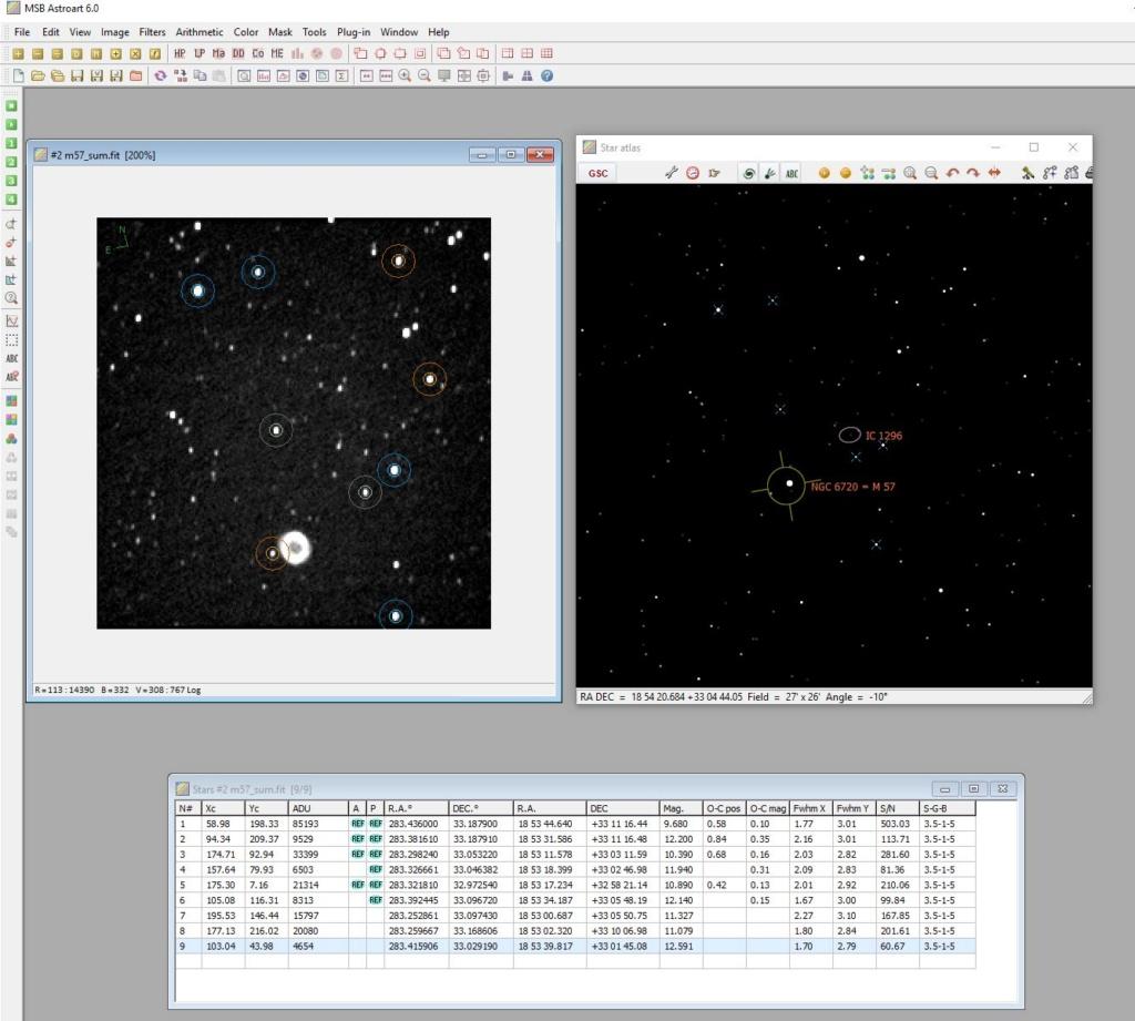 Astroart 6.0, catalogues et astrométrie... Photom13