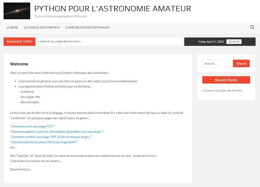 Python for astro... Site10
