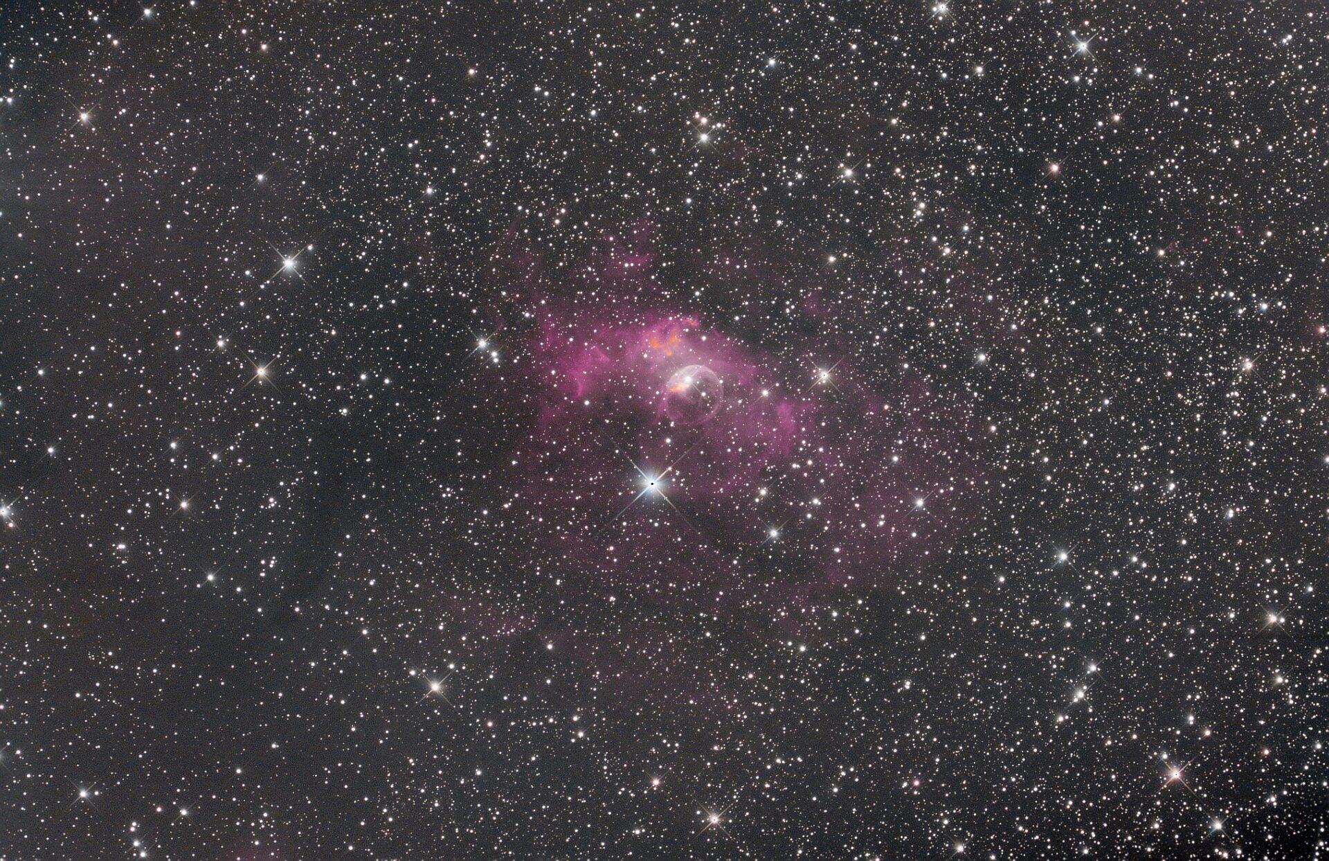 NGC 7635 La bubulle Nébula via SetUp ZWO ASIAIR Pro Whatsa14