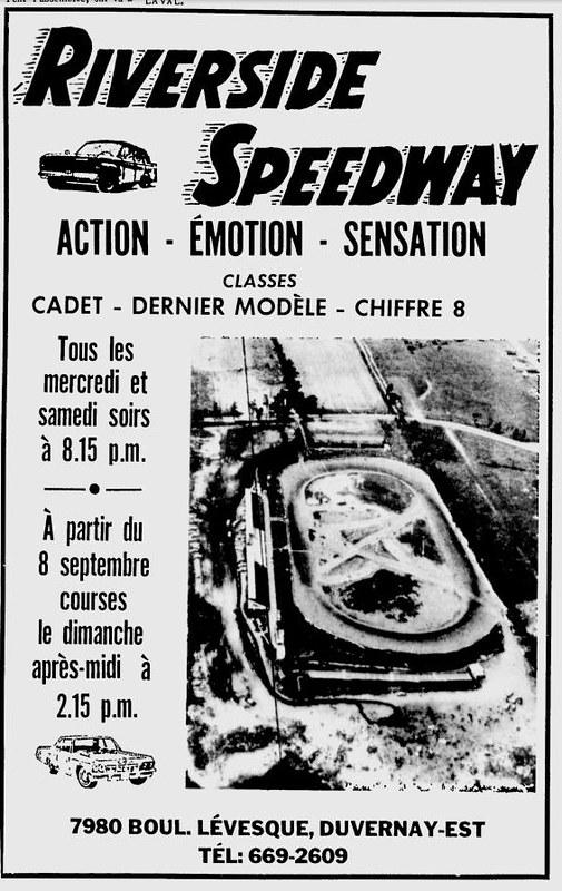 Une très rare photo aérienne du Riverside Speedway de St-Francois, Laval. 11955410