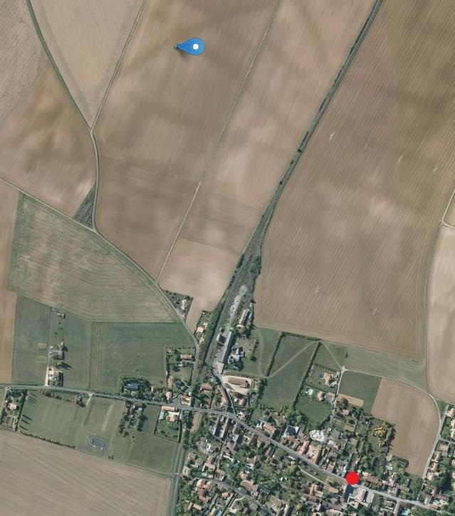 2008: le /07 à 23h30 - Ovni en forme de disque -  Ovnis à VILLIERS - Vienne (dép.86) Carte11