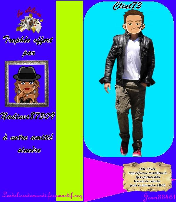TROPHEES CADEAU COINCHE DU JEUDI 27 SEPTEMBRE 2018 Clint710