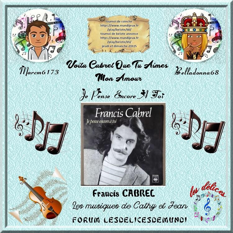JE PENSE ENCORE A TOI - FRANCIS CABREL Marcm610