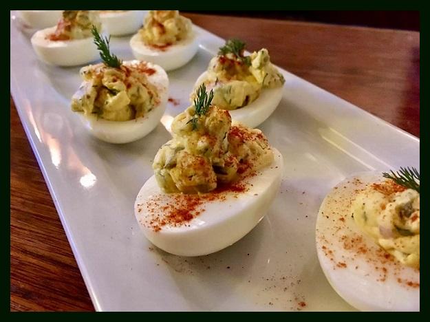 Фаршированные яйца. Блюдо Остары Photoe12