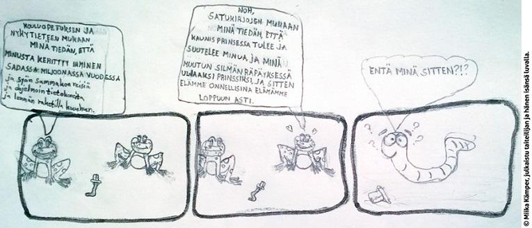 Lasten kynästä luet totuuden - evoluutiokriittinen piirros oli opettajalle liikaa Zzlaps11