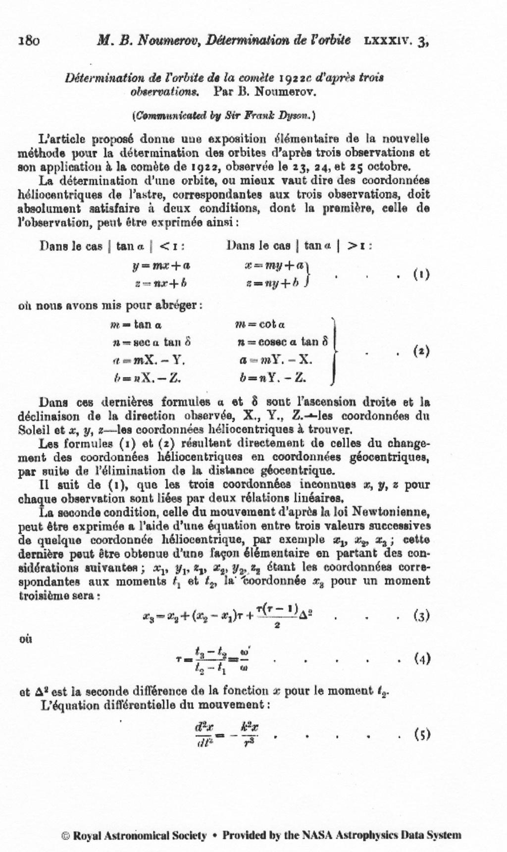 Equation d'une comète Comzot10