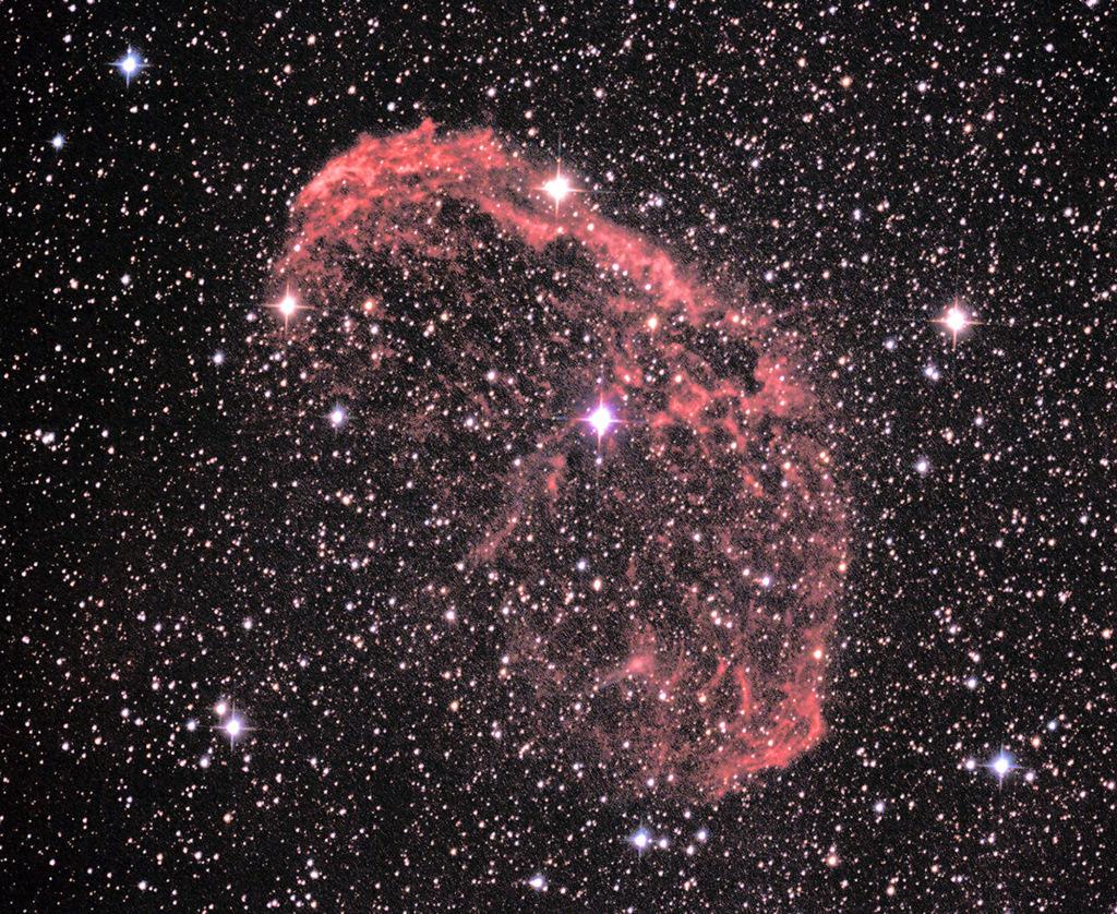 NGC6888 Nébuleuse du Croissant dans le Cygne Croiss12