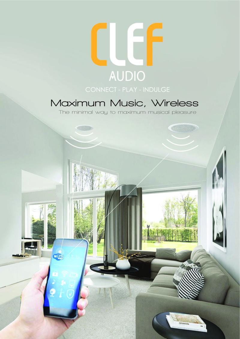 CLEF AUDIO Wi-Fi Ceiling Speaker  Clef_o10