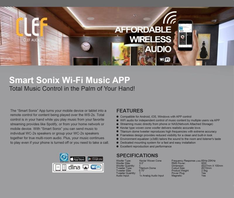 CLEF AUDIO Wi-Fi Ceiling Speaker  Wifi_w10