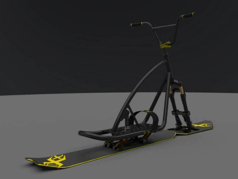 """SnowScoot Black Jack 21 """"Race & X-Race"""" - Nouveauté annoncée. Bljk2116"""
