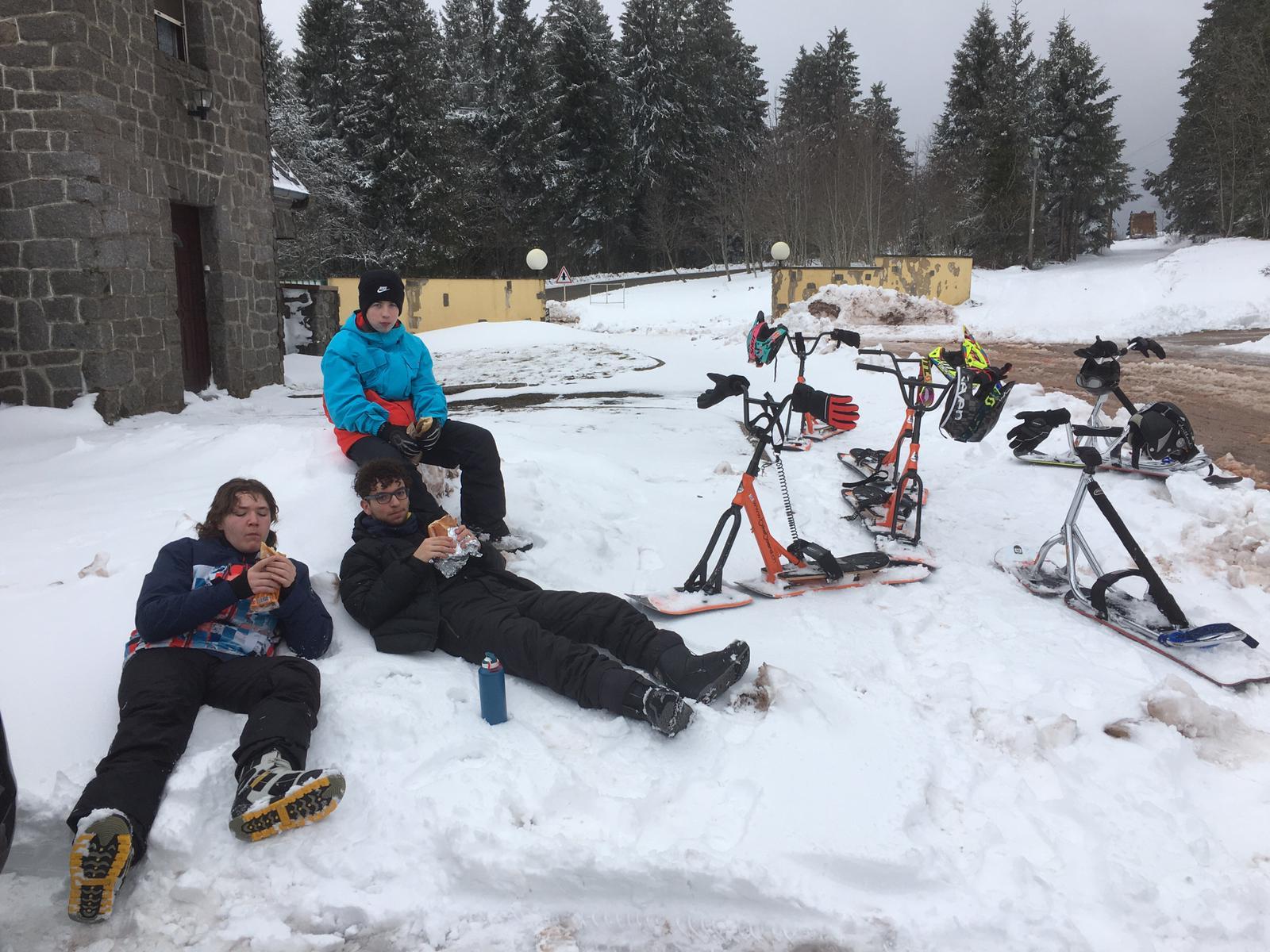 2020/03 - Compte-rendu Stage découverte SnowScoot - Lac Blanc (Vosges 88). Lac_bl28