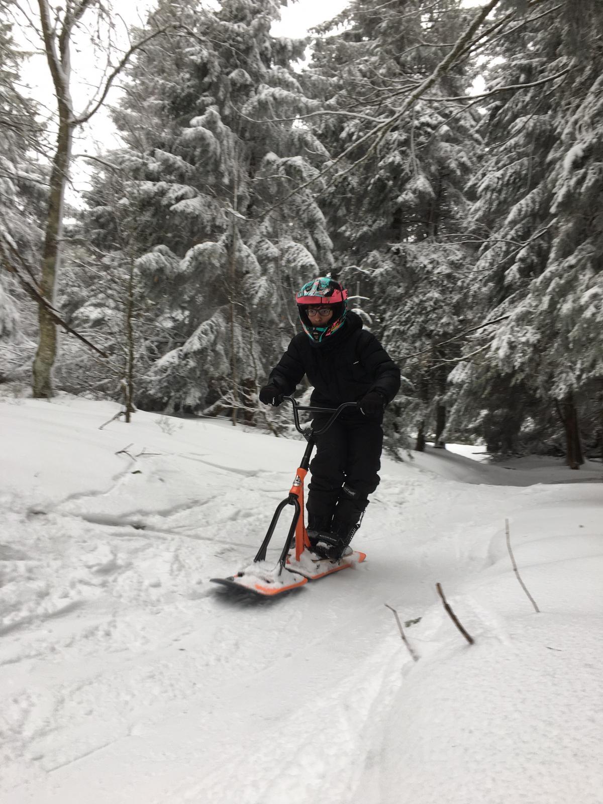 2020/03 - Compte-rendu Stage découverte SnowScoot - Lac Blanc (Vosges 88). Lac_bl29