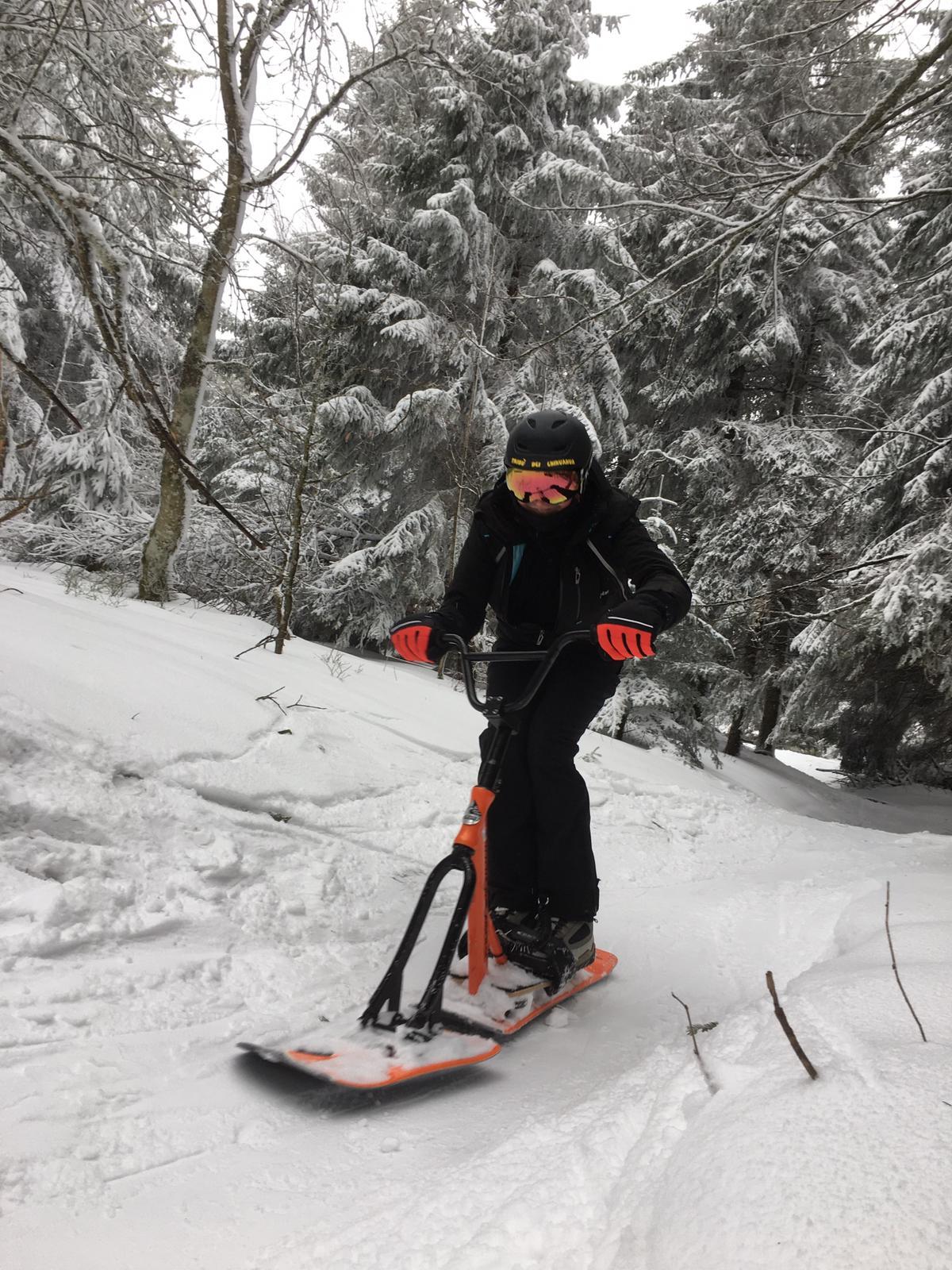 2020/03 - Compte-rendu Stage découverte SnowScoot - Lac Blanc (Vosges 88). Lac_bl33