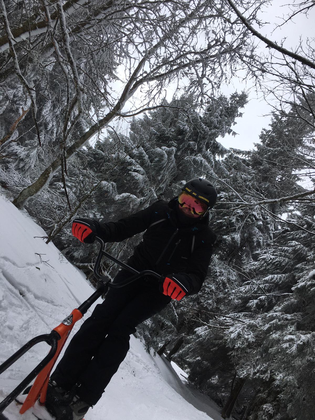 2020/03 - Compte-rendu Stage découverte SnowScoot - Lac Blanc (Vosges 88). Lac_bl35