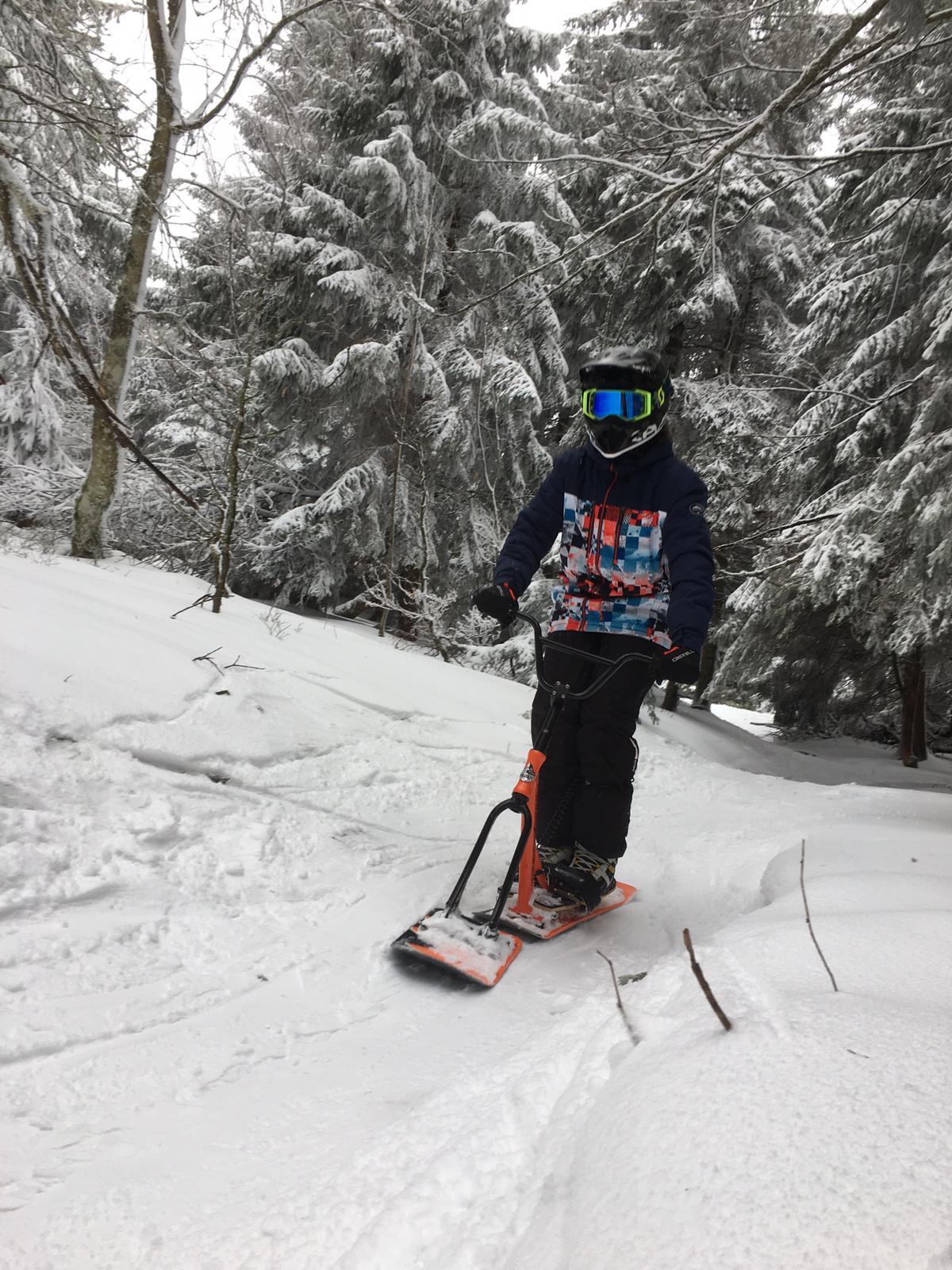 2020/03 - Compte-rendu Stage découverte SnowScoot - Lac Blanc (Vosges 88). Lac_bl38