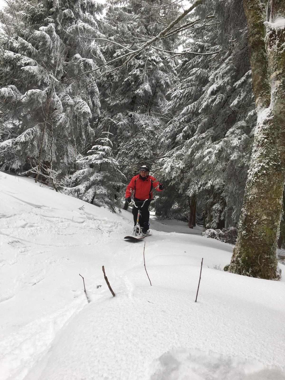 2020/03 - Compte-rendu Stage découverte SnowScoot - Lac Blanc (Vosges 88). Lac_bl41