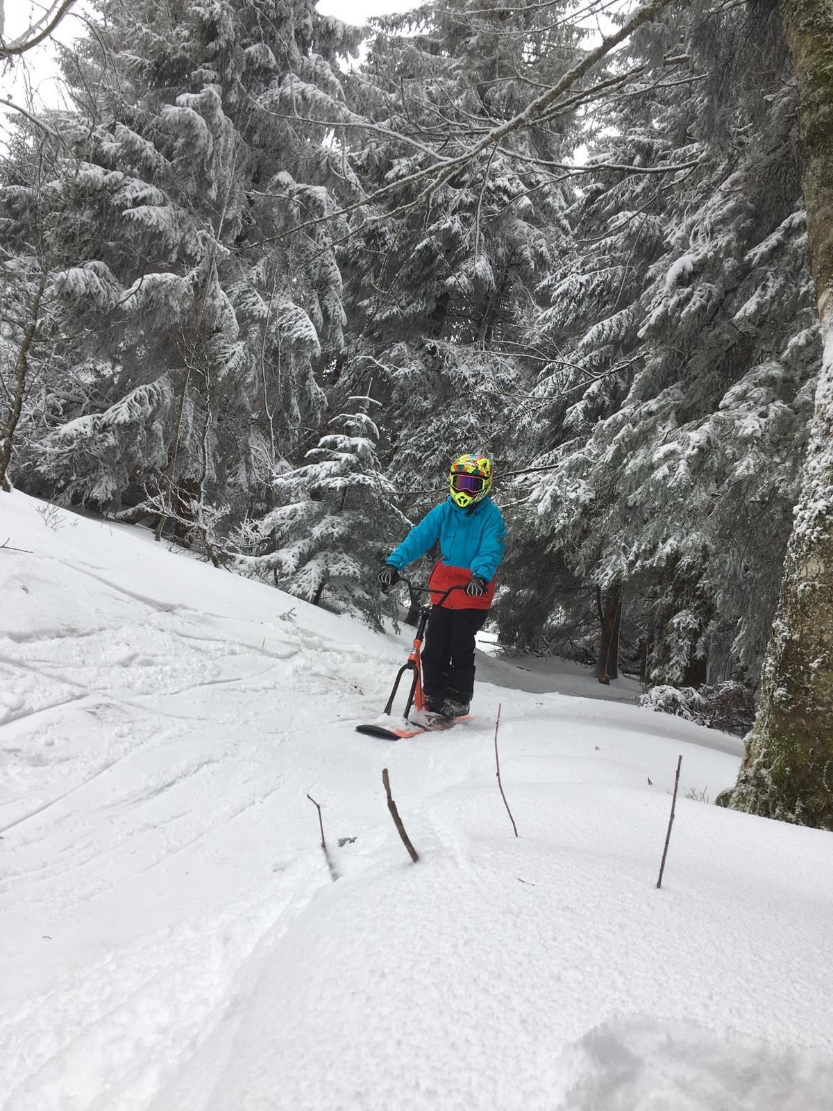 2020/03 - Compte-rendu Stage découverte SnowScoot - Lac Blanc (Vosges 88). Lac_bl47