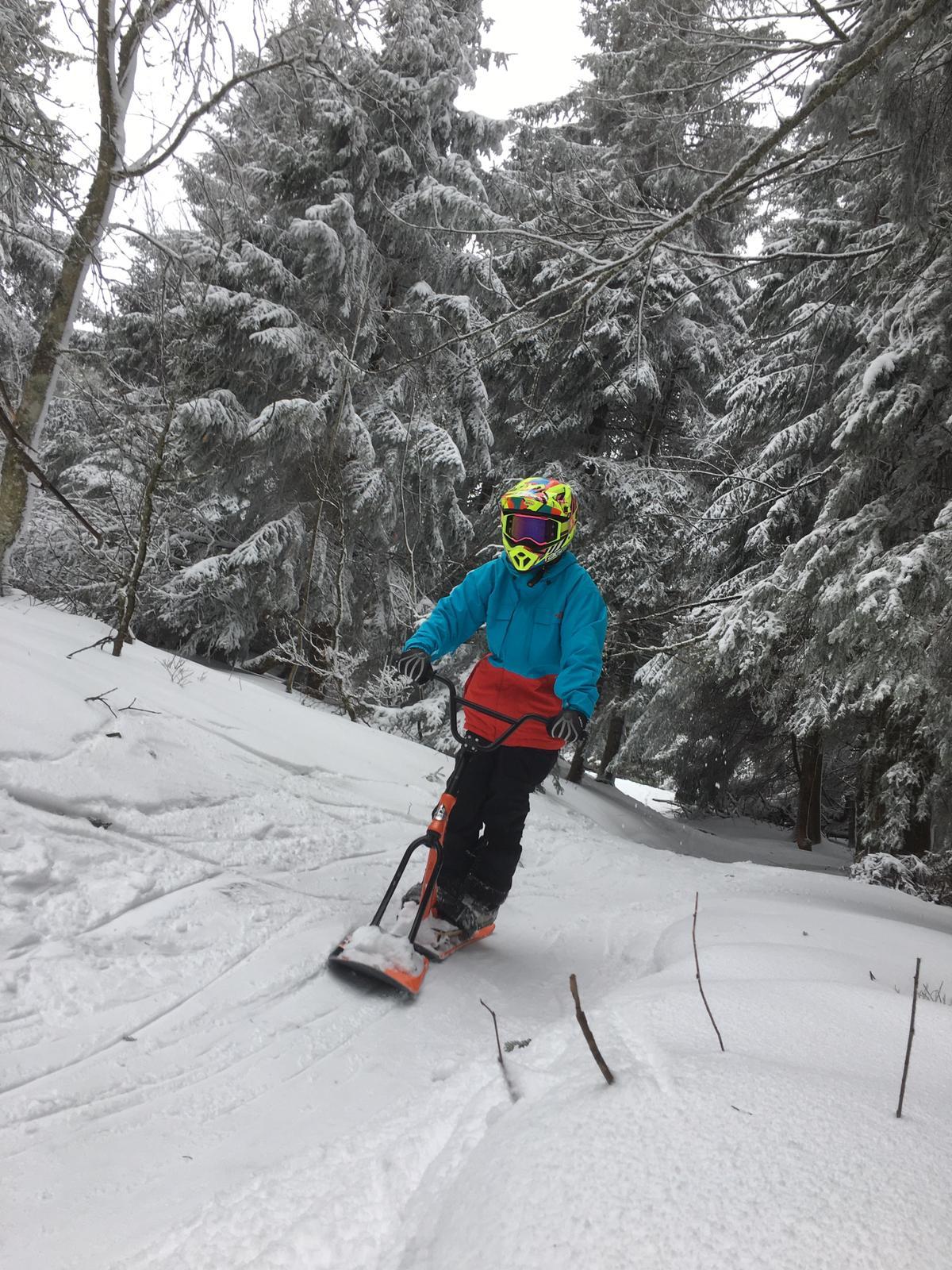 2020/03 - Compte-rendu Stage découverte SnowScoot - Lac Blanc (Vosges 88). Lac_bl48