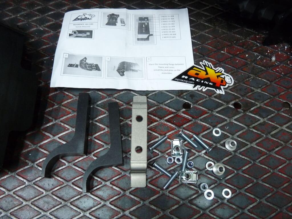 Montage d'un sabot moteur. Sabot014