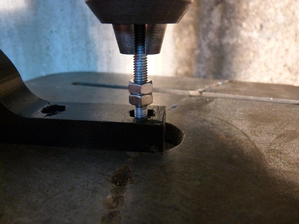Montage d'un sabot moteur. Sabot027