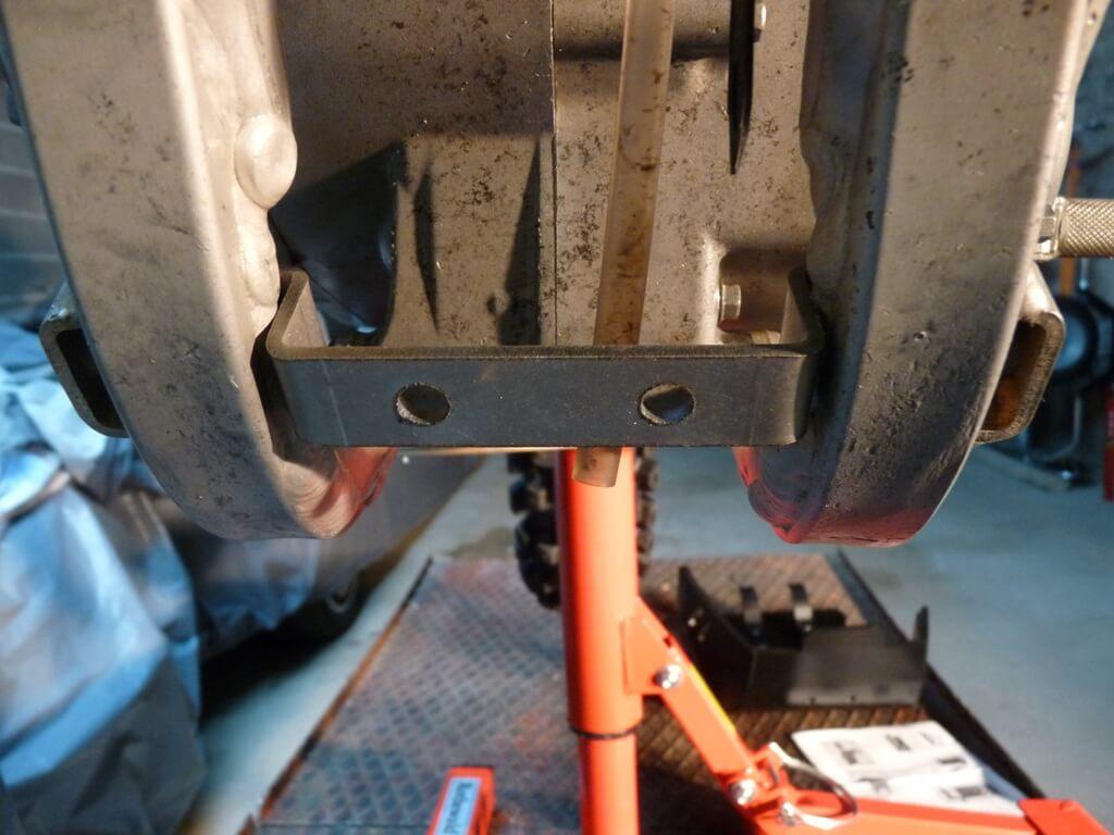 Montage d'un sabot moteur. Sabot036