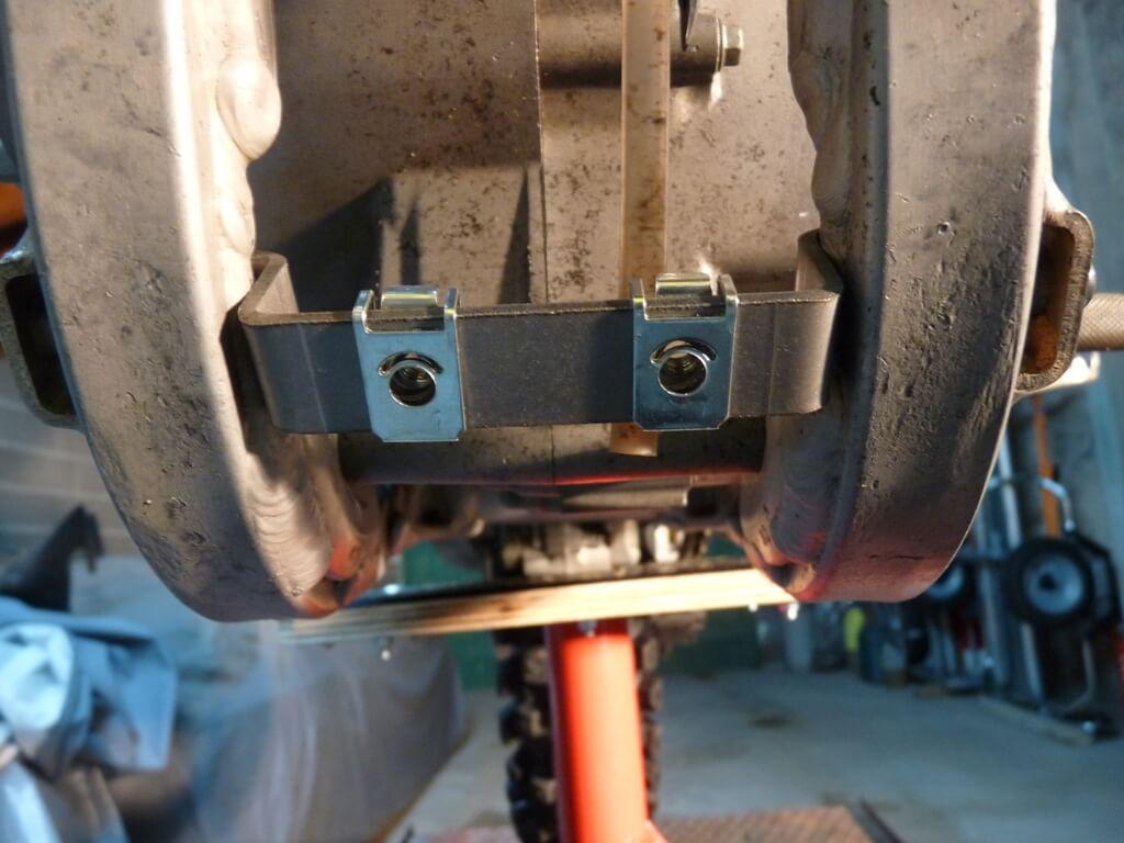 Montage d'un sabot moteur. Sabot037