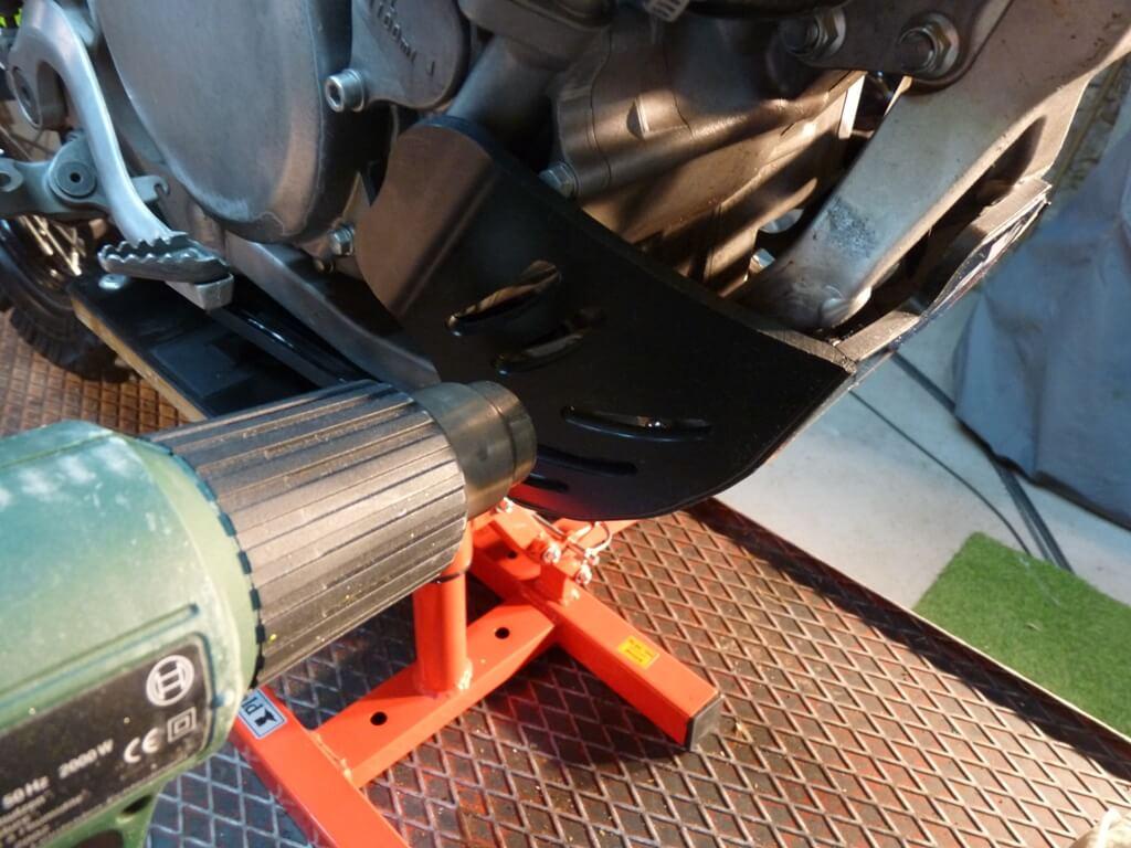 Montage d'un sabot moteur. Sabot051