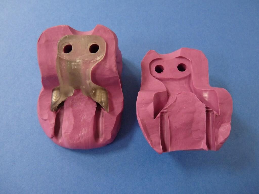 Remise en état des fixations de protection de tube de fourche. Supf0218