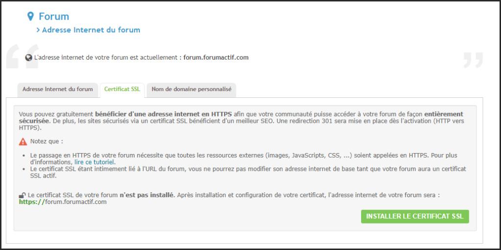 Le certificat SSL désormais GRATUIT pour tous les forums Forumactif 1-fr10