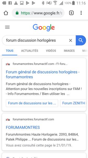 La favicon du forum affichée dans Google 113