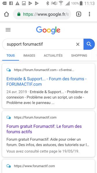 La favicon du forum affichée dans Google 312