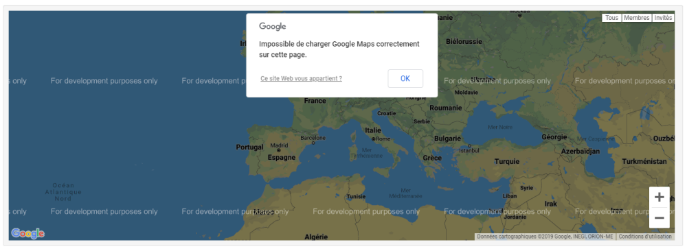 Retrait de la possibilité d'afficher la Google Map sur les forums Forumactif Map111