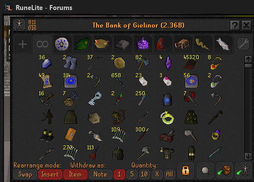 The (messy) Bank Progress of Forums 111