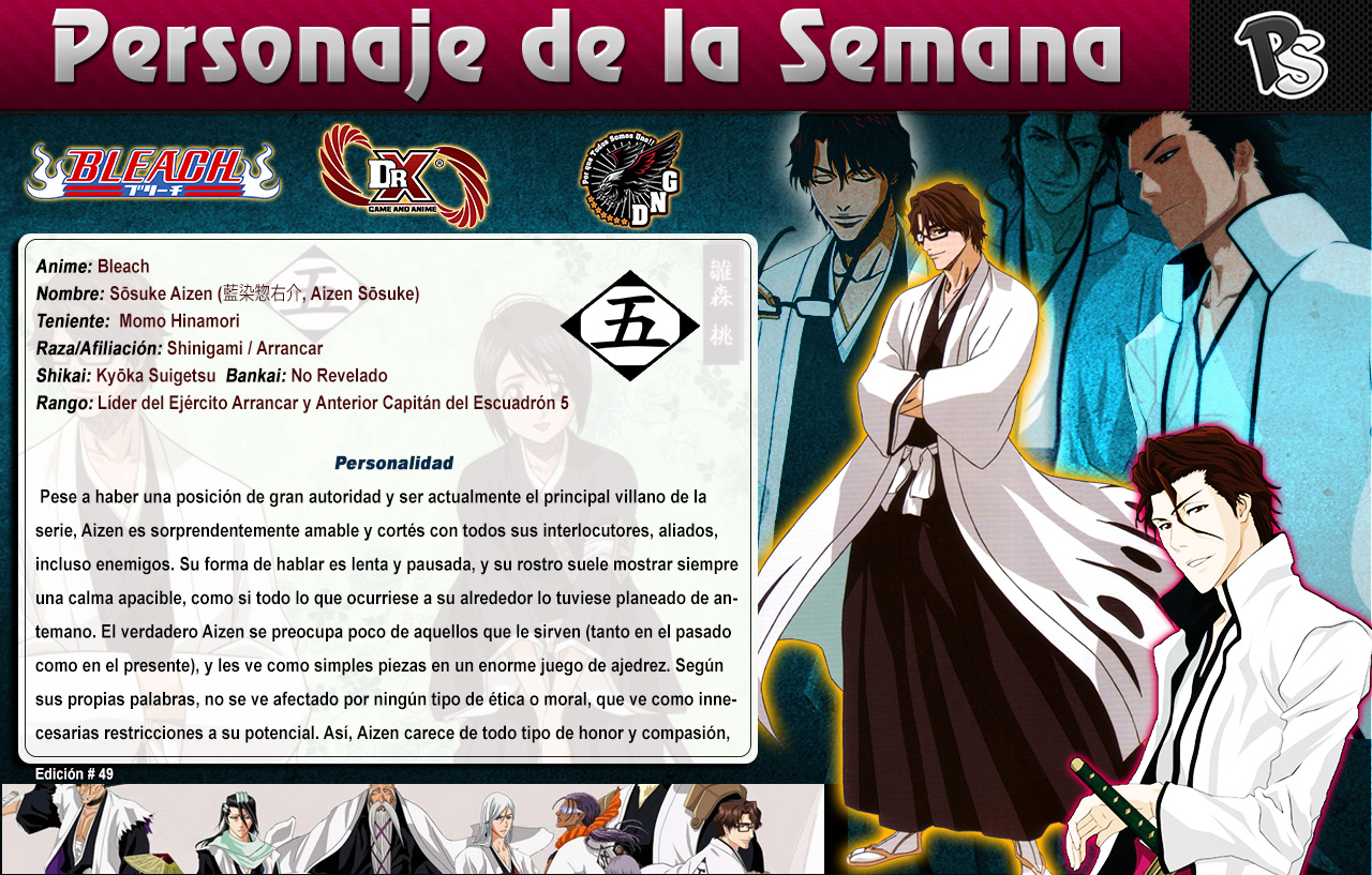 Aizen - (Bleach) Ps #49 4910
