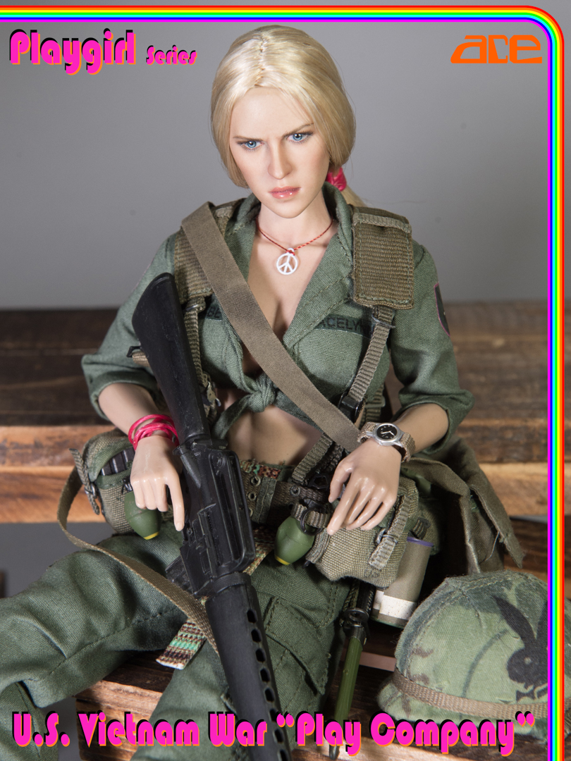 "NEW PRODUCT: ACE: Playgirl Series 13034 U.S. Vietnam War ""Peace Company"" Ace_pl13"