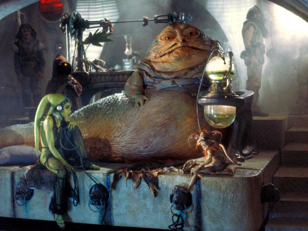 sideshow -  Jabba The Hutt Diorama (New character added) Jabba_10