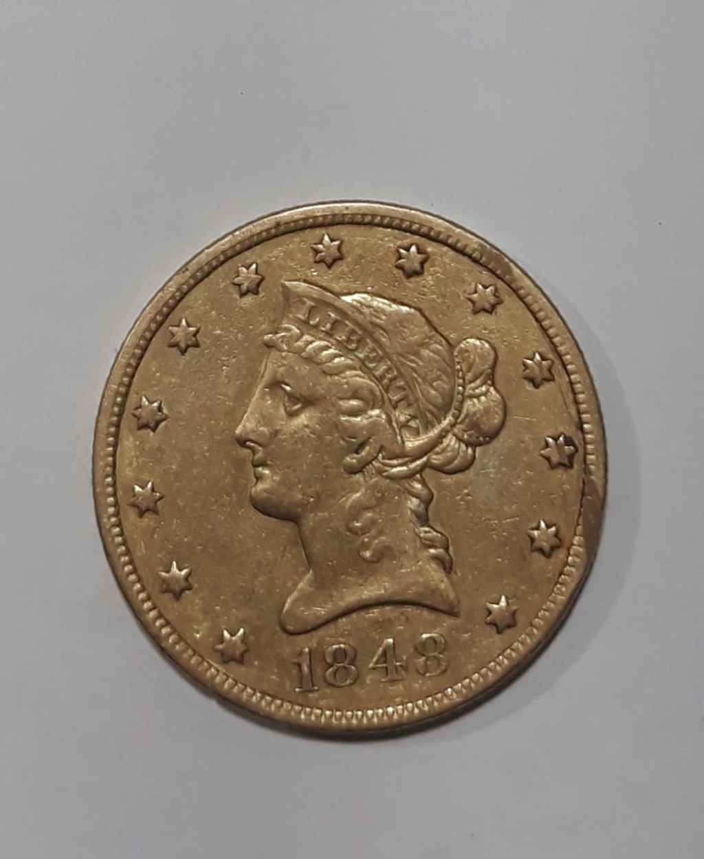 Moneda United States  ten D. de oro 1848 Img-2012