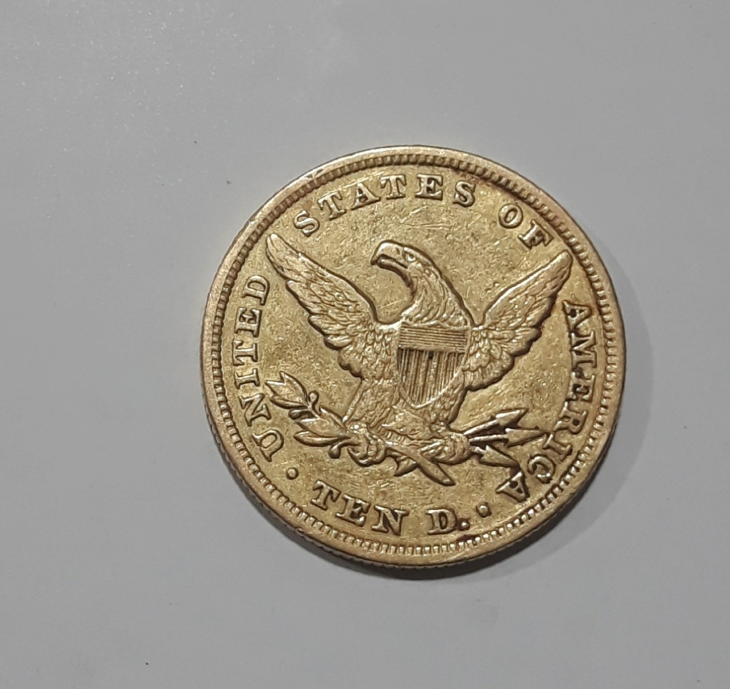 Moneda United States  ten D. de oro 1848 Img-2013