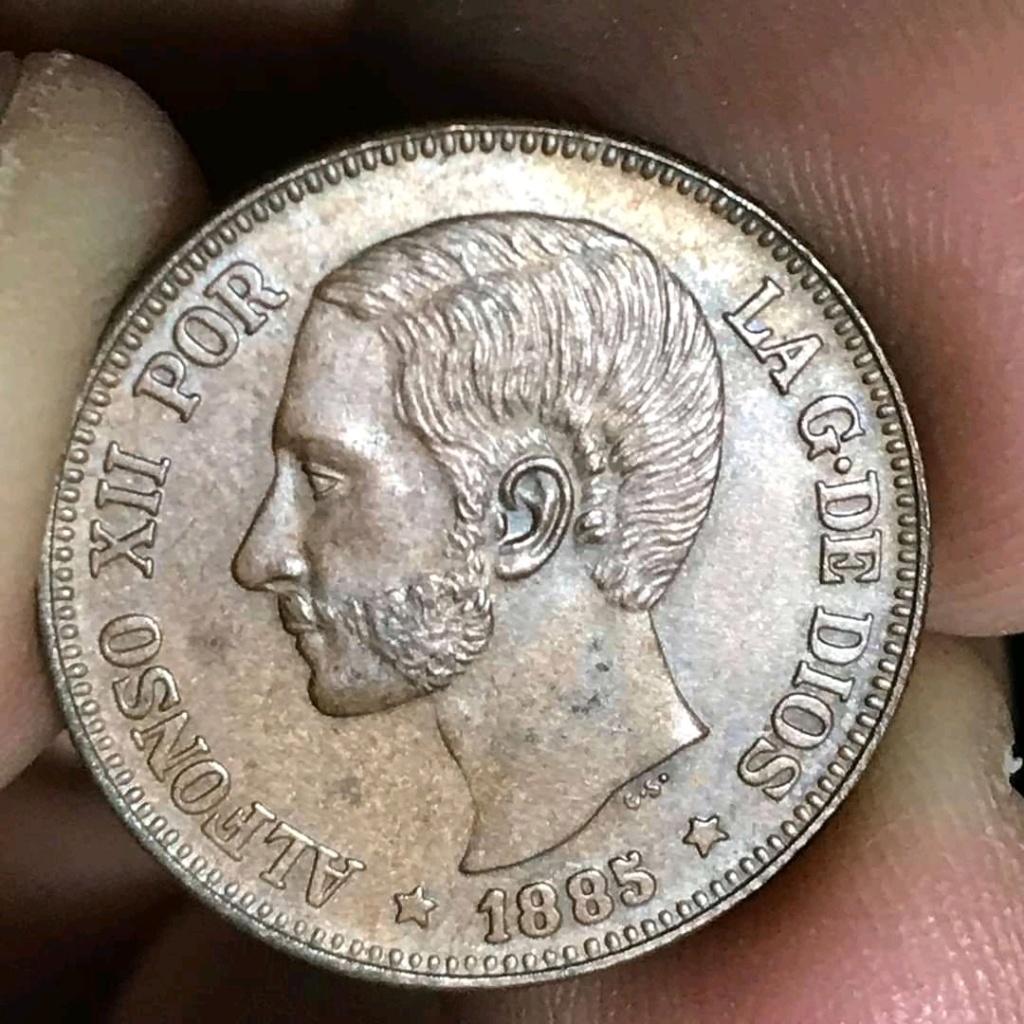 4 Pesos de Alfonso XII de Filipinas 1885. Reproducción en cobre Fb_img14