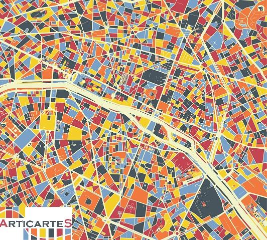 Créations de cartes artistiques - Décorations originales et design - Votre ville favorite en déco ! Paris_12