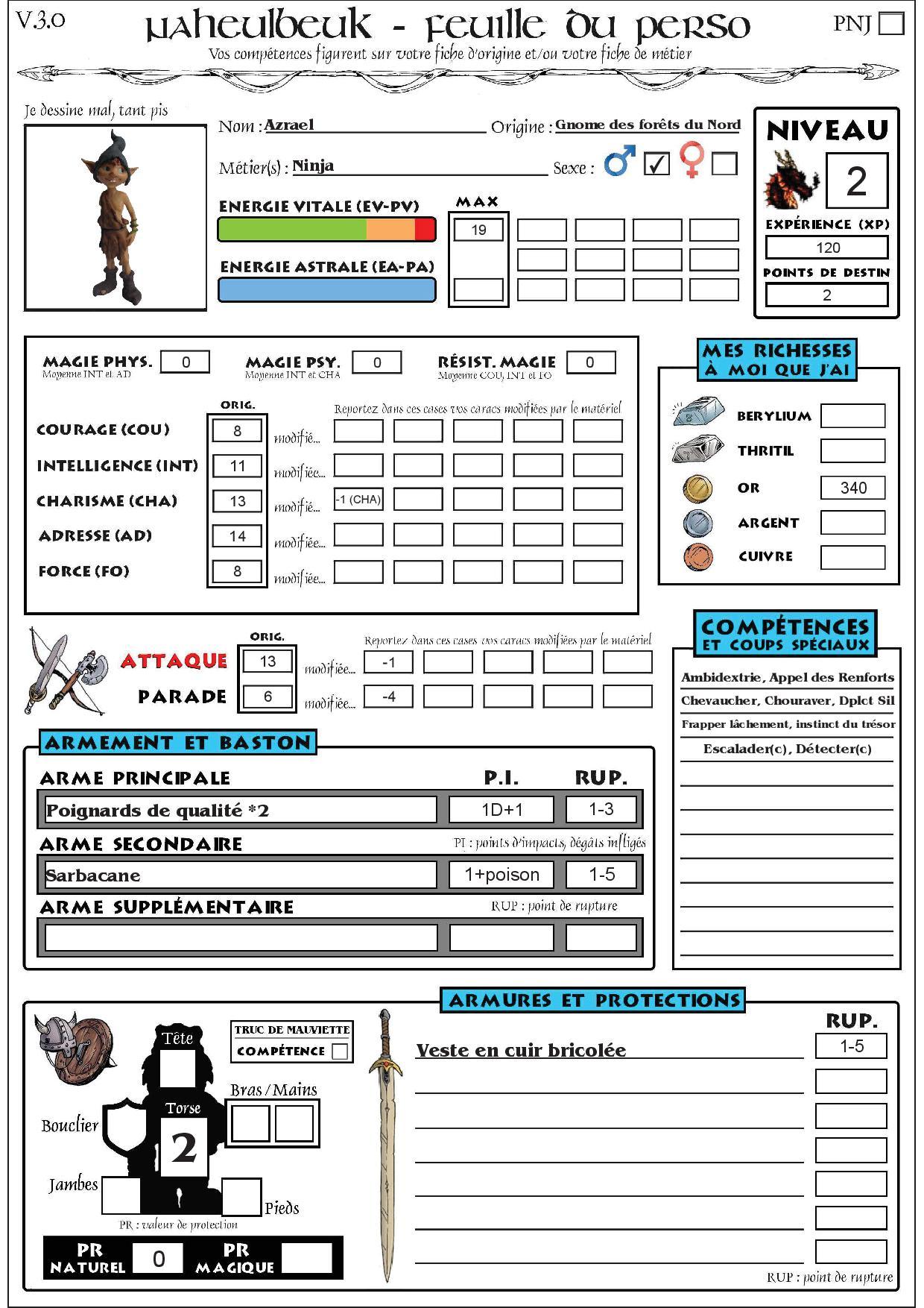 Azrael, Gnome Assassin Fichep16