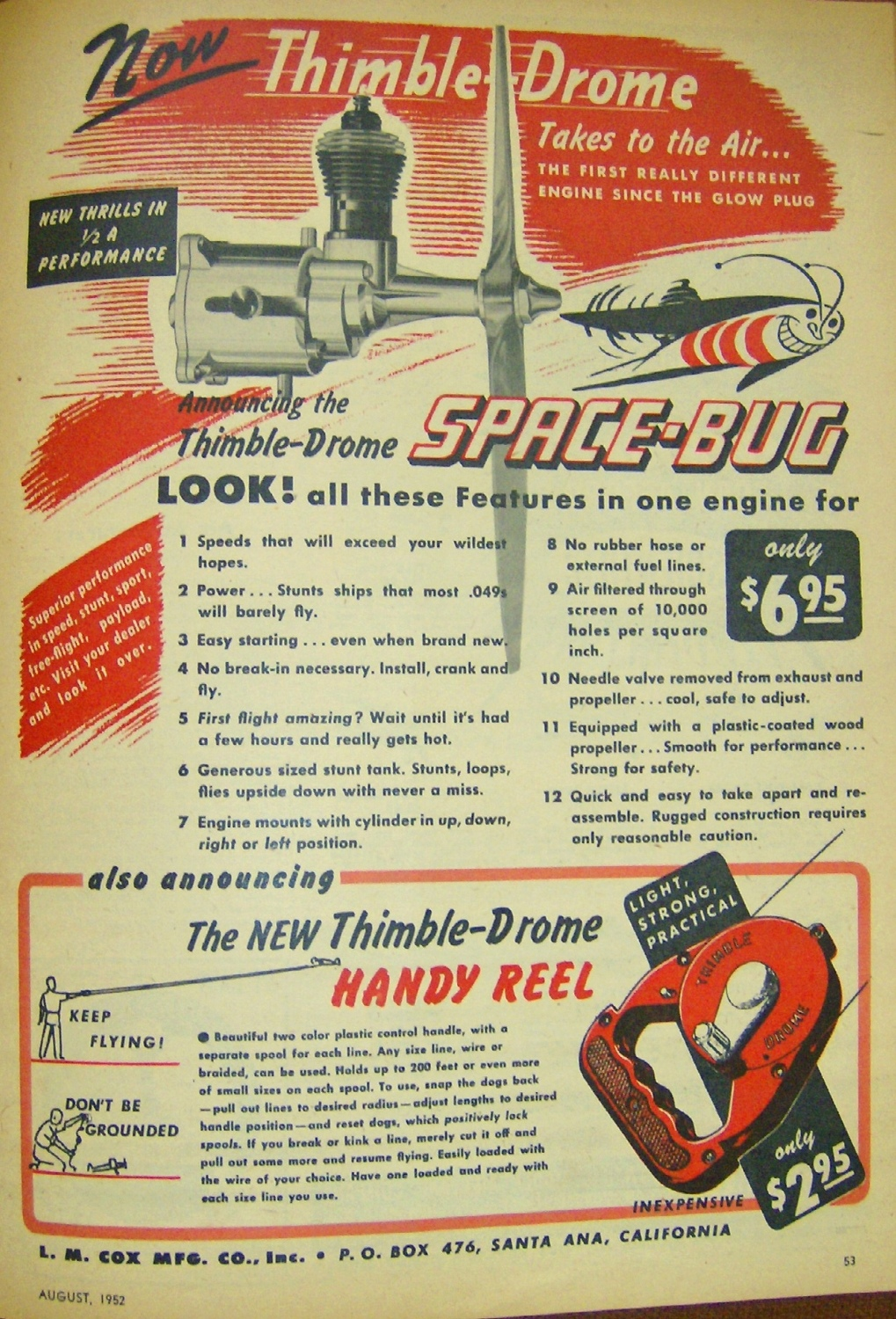 First Cox Space Bug advertising in Air trails Hpim1128