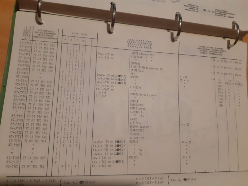 Recherche type cabine 461 pour vitre arrière  20201120