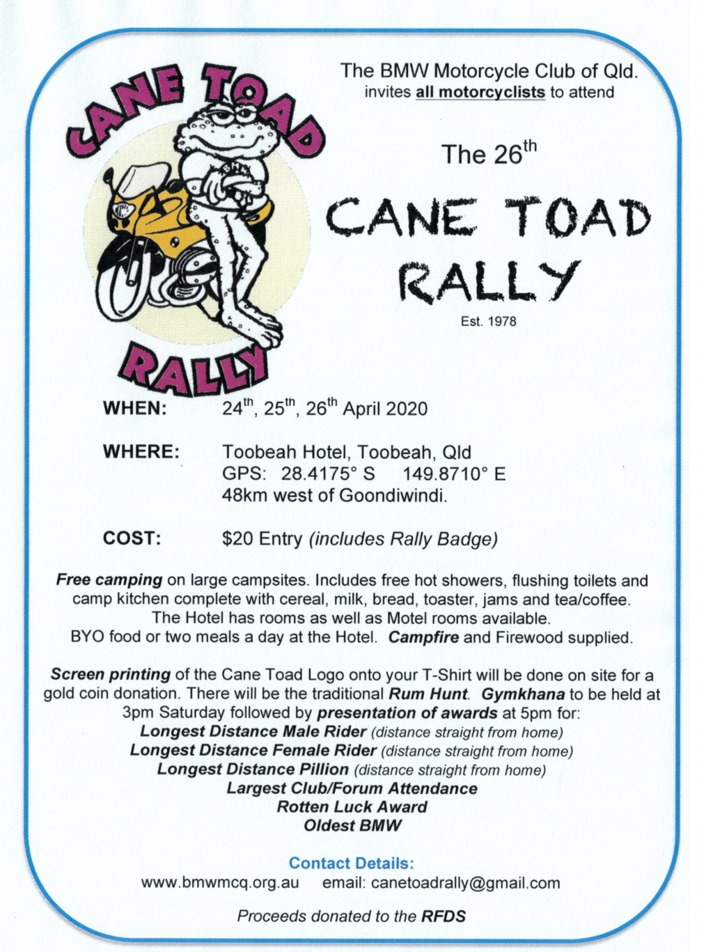 Cane Toad Rally 2020 Ctr_ad10
