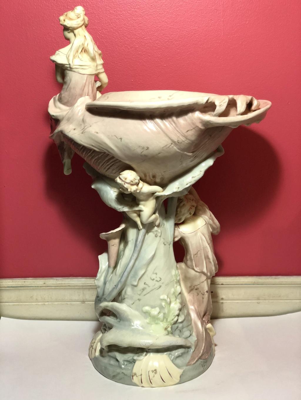 Huge Art Nouveau Teplitz Amphora Royal Dux Shell Center Piece 71662510