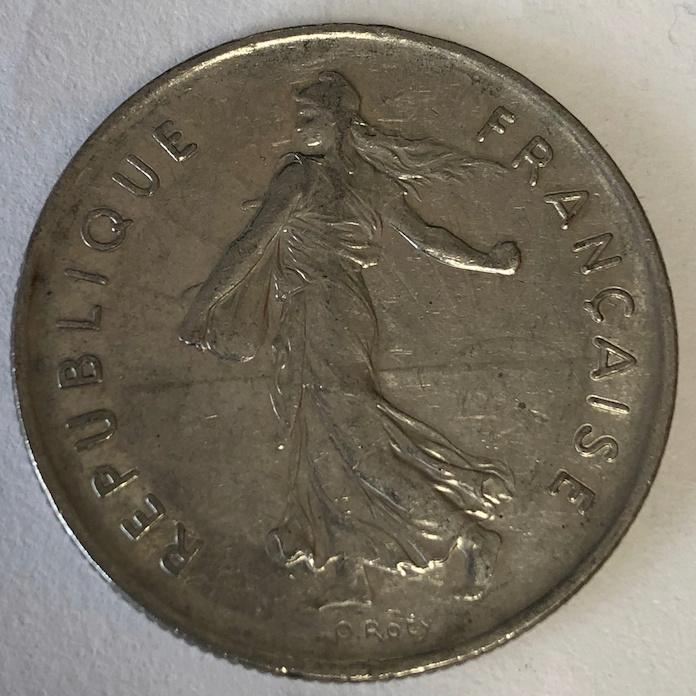 5 Francos Francia 1963 211