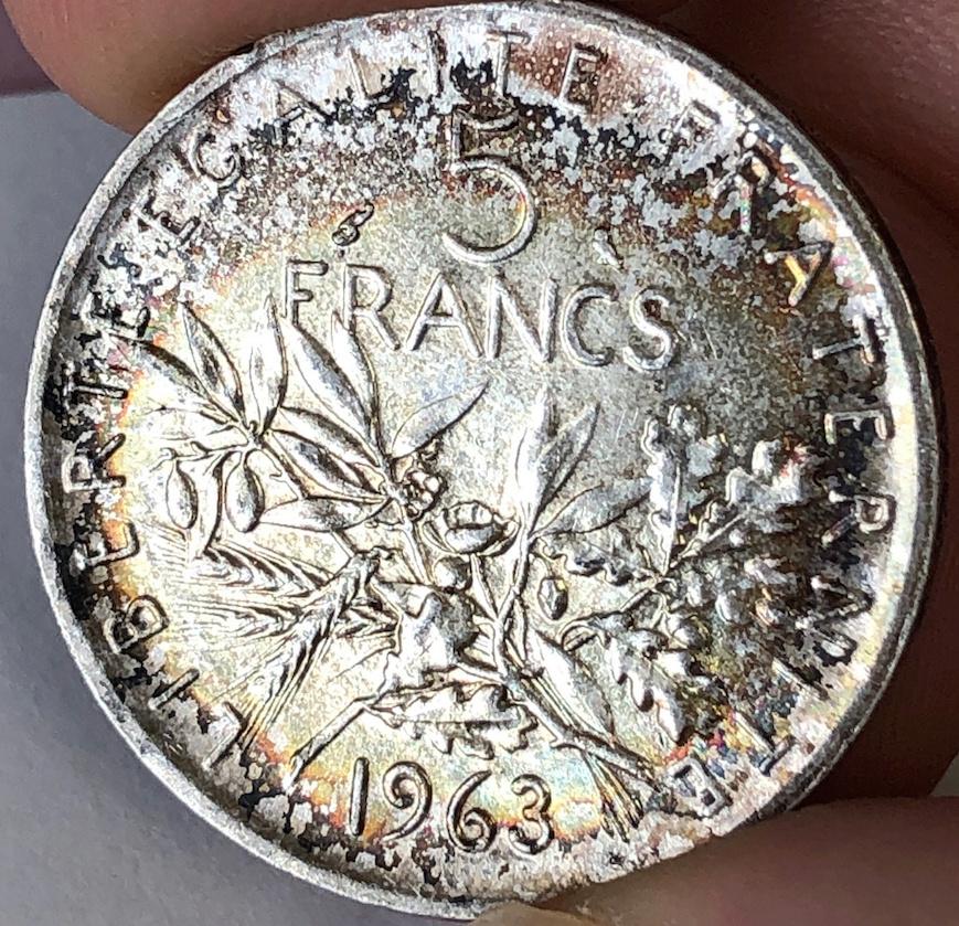 5 Francos Francia 1963 410
